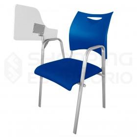 Cadeira Universitária Braço Escamoteável Tubo