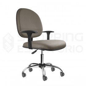 Cadeira Giratória Executiva Base Cromada