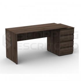 mesa reta gaveteiro planejados escritorio