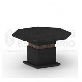 mesa reuniao octogonal redonda escritorio