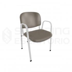cadeira fixa oblongo recepção estofada