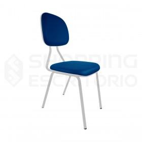 cadeira fixa secretária base cinza