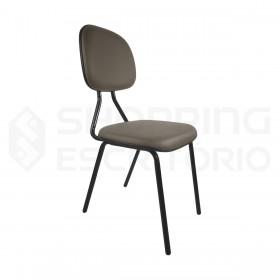 cadeira fixa secretária base preta