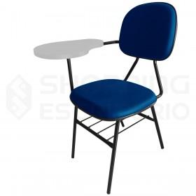 Cadeira Universitária Secretária Porta-Livros Prancheta