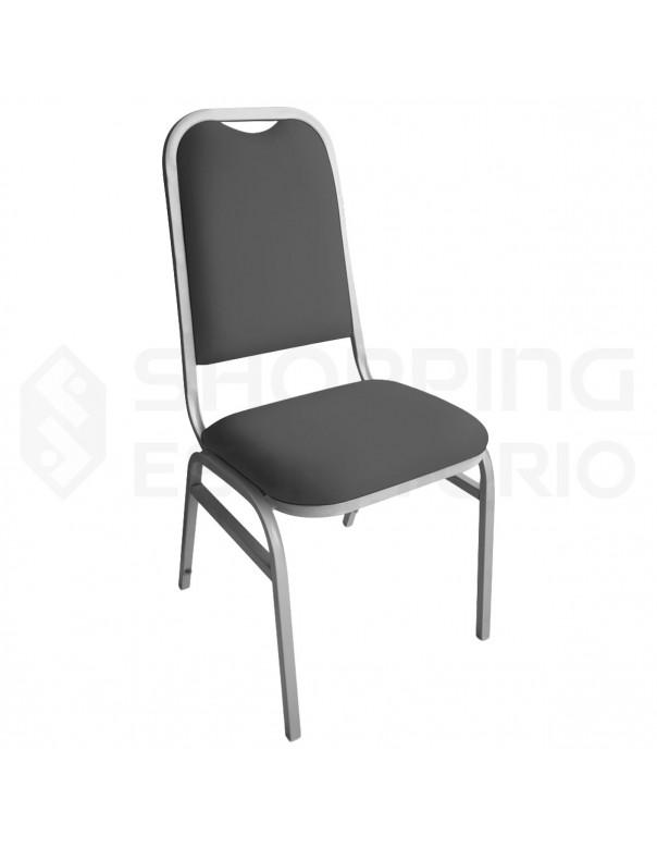 Cadeira Empilhável para Auditório Base Cinza