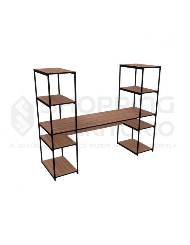 Mesa com 2 Estantes Home