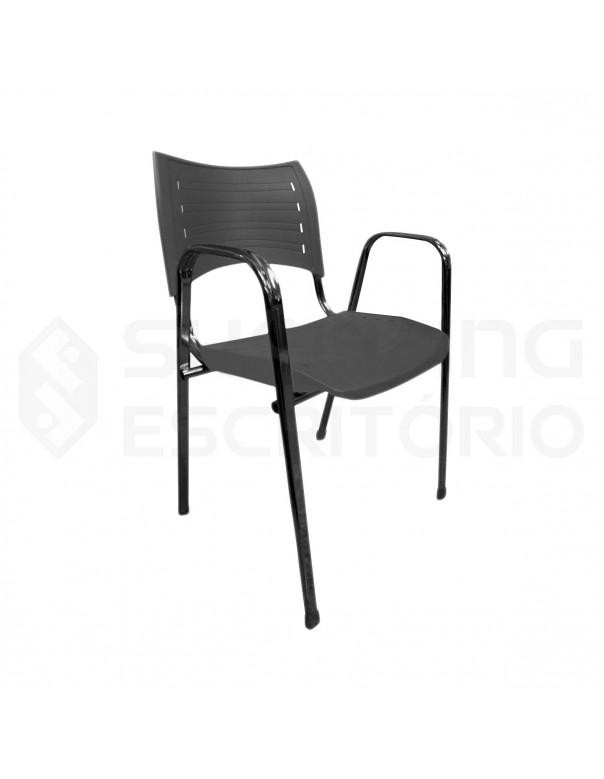 Cadeira Plástica PP Base Preta