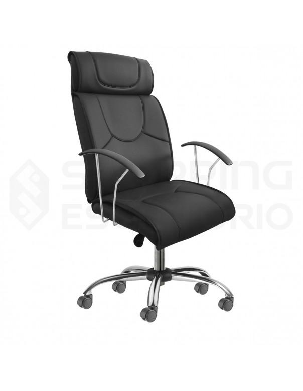 Cadeira Giratória Presidente Onix Base Cromada