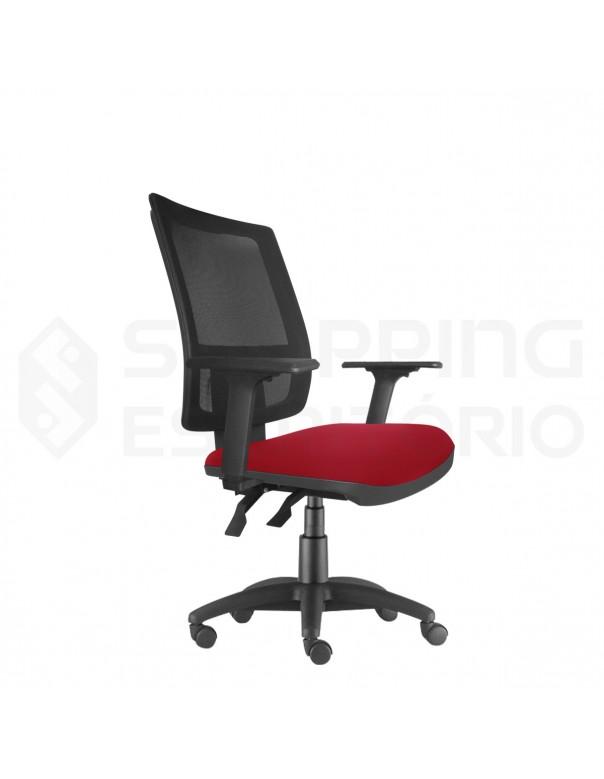 Cadeira Giratória Ergonômica Back System Presidente Tela Apoio Lombar Regulável Base Nylon