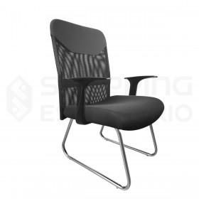 cadeira fixa tela braço mesh
