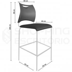 Banqueta Alta Design PP Base