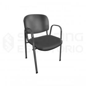 Cadeira Empilhável Recepção Estofada
