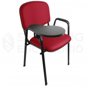 Cadeira Universitária Recepção Estofada Sem