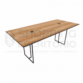 Mesa de Reunião Retangular Design