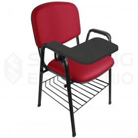 Cadeira Universitária Recepção Estofada Com