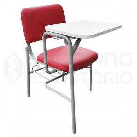 Cadeira Universitária Com Porta-Livros Recepção