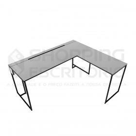 Mesa em L Design Industrial
