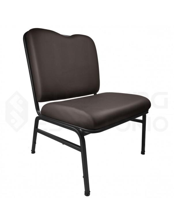 Cadeira Empilhável para Auditório Base Preta