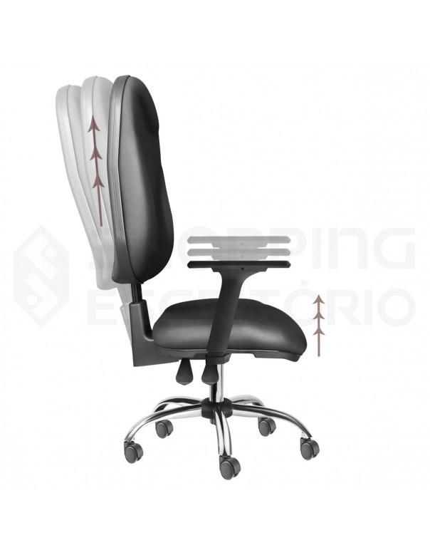 Cadeira Giratória Back System Presidente Gomada Capa de Proteção PP Base Cromada