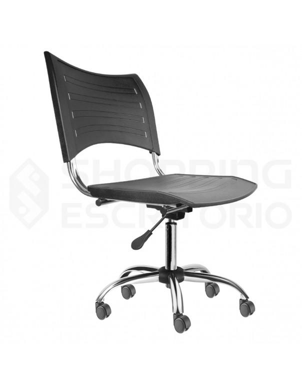 Cadeira Giratória Plástica PP Cromada
