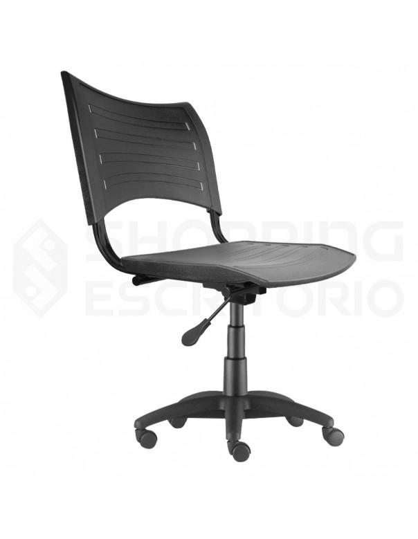 Cadeira Giratória Plástica PP Preta
