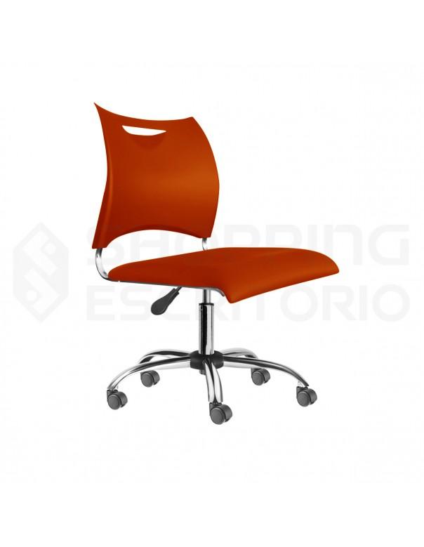 Cadeira Giratória Design PP Base Cromada