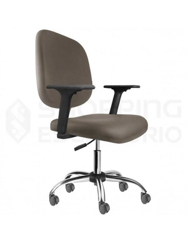 Cadeira Giratória Diretor Base Cromada