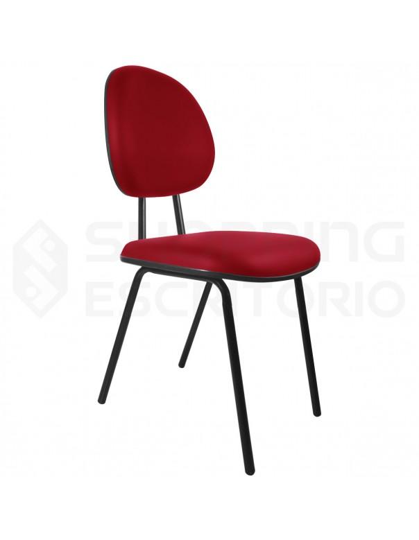 Cadeira Fixa 4 Pés Executiva Base Preta
