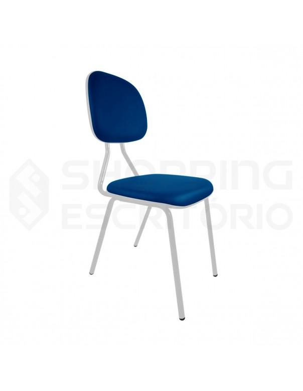 Cadeira Fixa 4 Pés Secretária Base Cinza