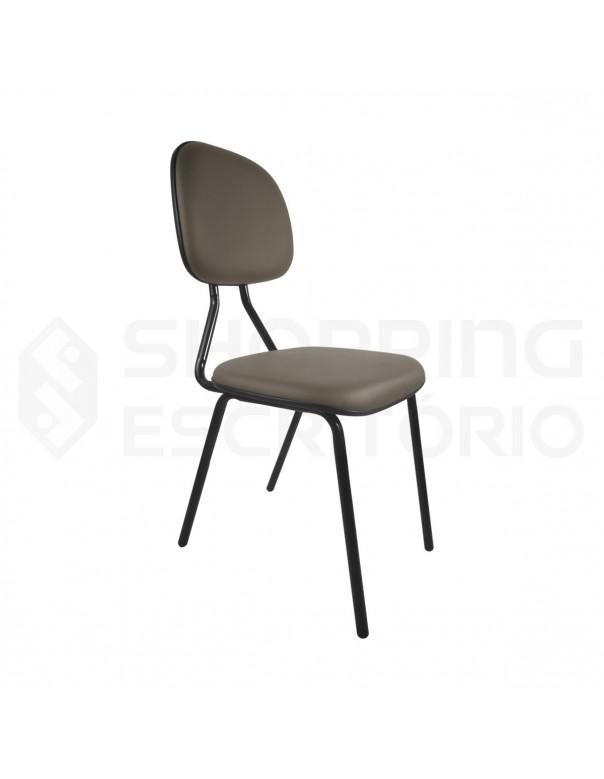 Cadeira Fixa 4 Pés Secretária Base Preta