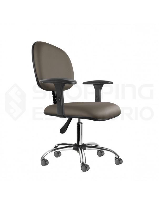 Cadeira Giratória Secretária Base Cromada