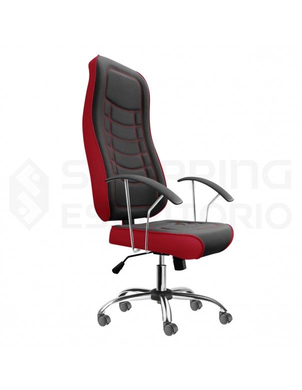 Cadeira Giratória Gamer Debrum Base Cromada