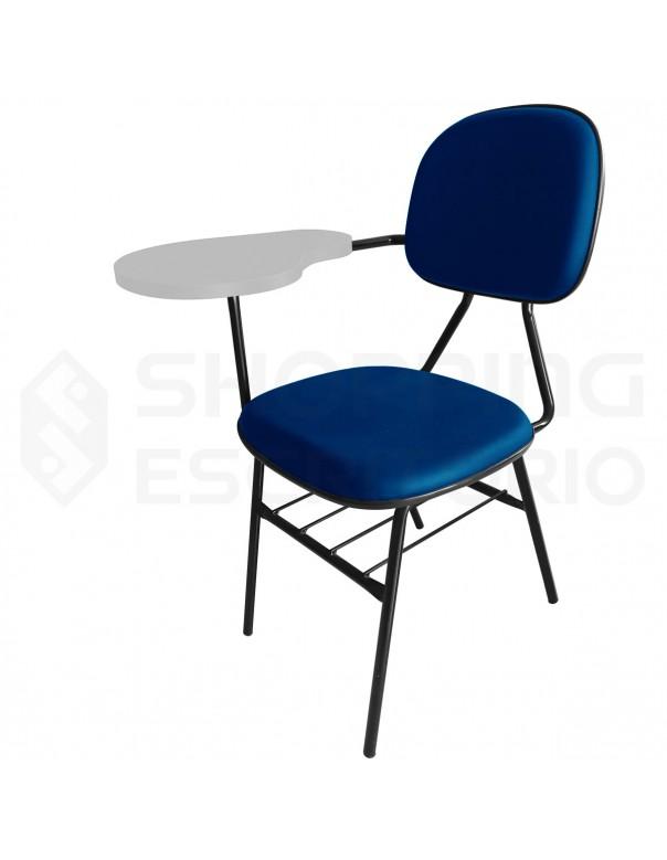 Cadeira Universitária Secretária com Porta-Livros Prancheta Fixa