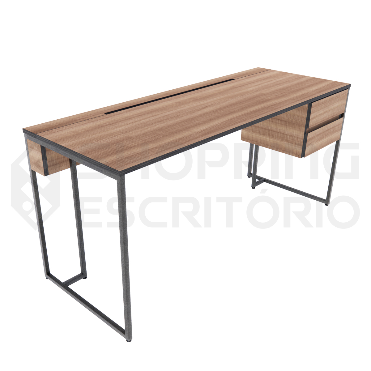 mesa design industrial metal escrivaninha